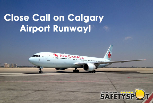 two planes were close to colliding in Calgary airport